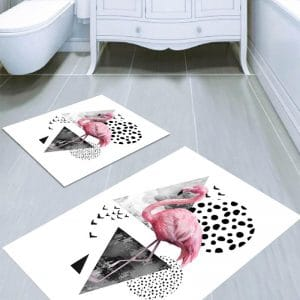 set Covorase flamingo